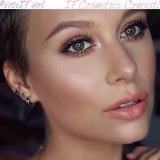 peachy bronze makeup tutorial