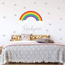 Rainbow Custom Name Wall Decal Girls Personalized Name Rainbow Wall Sticker Rainbow Unicorn Custom Name Sign Custom Name Stencil Monogram Girls Nursery Wall Decor Handmade Cjp Org In