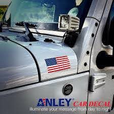 American Flag Decal 5x3 Inch Anley Flags