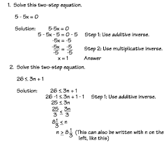 two step equations and inequalities