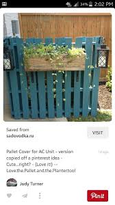 Pallet Ac Unit Cover Outdoor Ac Unit Diy Pallet Furniture Outdoor Diy Patio