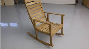 building a wooden rocking chair you