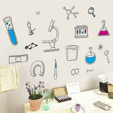 Microscope Science Scientist Chemistry School Laboratory Dormitory Wall Sticker Home Decor For Kids Room Bedroom Living Room Wall Stickers Aliexpress