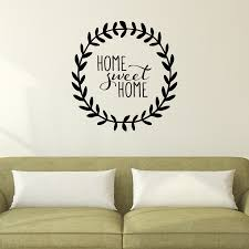 home sweet home leaves wall quotes decal com