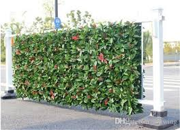 2020 3 Square Meters Artificial Hedges Fake Fence Garden Plants Artificial Red Laurel Greenery Panels Garden Decoration From Sunwing 174 76 Dhgate Com