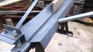 homemade sheet metal bending you