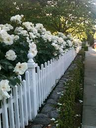 My Romantic Home White Gardens Fence Landscaping White Picket Fence