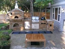 outdoor kitchen pizza oven gas ovens