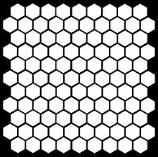Foal Honeycomb Hexagonal Wall Pattern Vinyl Decal Stickers Purple 2 3 Set Of 126 Wall Stickers Murals