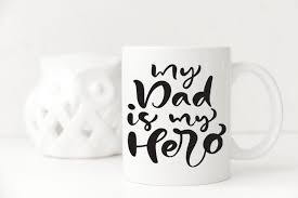 My Dad Is My Hero Decal Only For Mug Glass Or Tumbler 8cm X 9cm Brand It Wa