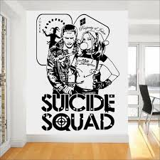 Quotes Suicide Squad Wall Decal Harley Quinn Joker Dc Stickers For Kids Bedroom Vinyl Art Mural Task Force X Home Decor Stickers For Stickers For Kidswall Decals Aliexpress