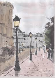 Street in Paris Painting by Brian Francis Smith