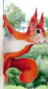 Peeping Squirrel Wall Decal Woodland Stickers For Walls And Etsy Woodland Stickers Woodland Scene Hand Painted Artwork