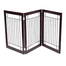 Internet S Best Traditional Wire Dog Gate 3 Panel 30 Inch Tall Pet Puppy Safety Fence Fully