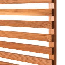 Cequence Slatted Cedar Fence Panel Open Panel Contemporary Fencing