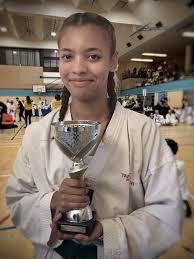 Burnham-On-Sea Taekwondo enthusiast Tasha Stewart celebrates winning gold