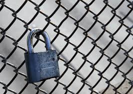 Padlock On Chain Link Fence Free Stock Photo Public Domain Pictures