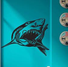 Predator Overlord Ocean Shark Jaws Sea Animal Wall Art Vinyl Sticker Decal Nursery Decor Living Room Home Interior Mural Stencil Decoration Living Room Animals Wallnursery Decor Aliexpress