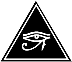 Amazon Com Eye Of Horus Triangle Egyptian Pagan Vinyl Sticker Decals For Car Bumper Window Laptop Tablet Phone 3 X 2 6 Black Automotive