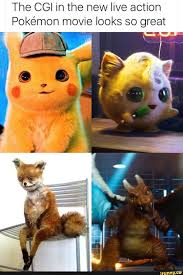 The CGI in the new live action Pokemon movie looks so great ...