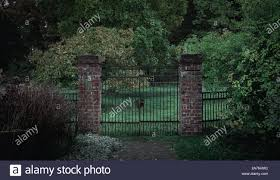 Old Gate With Metal Fence On Graveyard Stock Photo Alamy