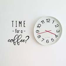 Coffee Wall Decals Time For A Coffee Fun Match Set Love