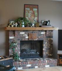 cultured stone fireplace without