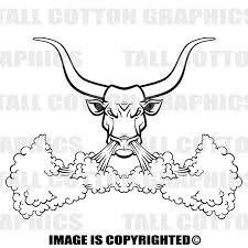 Longhorn Bull Snorting Custom Personalized Vinyl Decal