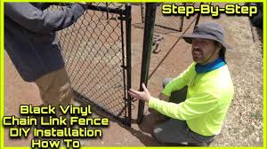 Black Chain Link Fence Installation Dog Park Installation How To Diy Youtube