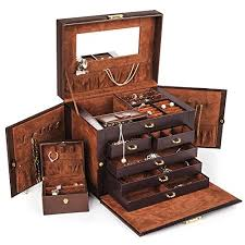 kendal brown leather jewelry box case
