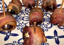 Simple Way to Make Homemade Dates filled with goat cheese and covered in  bacon (easy) | Best Recipes