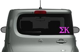 Amazon Com Sigma Kappa Car Truck Laptop Macbook Decal Sticker 2 Pack Hot Pink Computers Accessories