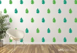 Tropical Leaf Wall Decal Nature Leafs Wall Sticker Wall Etsy