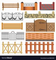 Set Of Different Fence Design Royalty Free Vector Image
