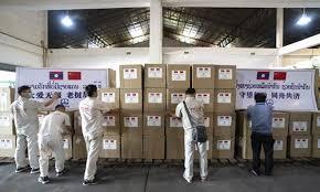 resumes construction of china laos