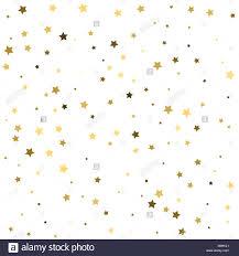 Patron Abstracto De Azar Caer Estrellas Doradas Sobre Fondo Blanco