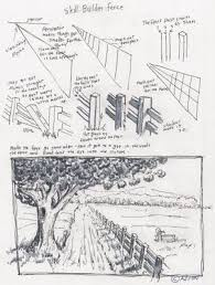 Adron S Art Lesson Plans How To Draw A Fence In A Rural Scene Art Lesson Plans Art Worksheets Landscape Drawings