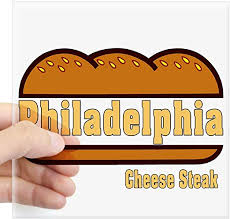 Amazon Com Cafepress Philly Cheesesteak Sticker Square Bumper Sticker Car Decal 3 X3 Small Or 5 X5 Large Home Kitchen