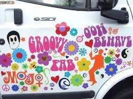 Groovy Car Decals Hippie Sticker Car Decals Car Stickers