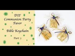 diy communion party favor keychain