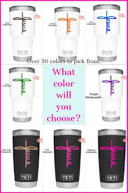 Jesus Cross Decal That Looks Great On Cups Cars And Diy Art Projects Pick From Over 50 Fabulous Color Choices Etsy Finds Childrens Gifts Inspirational Gifts