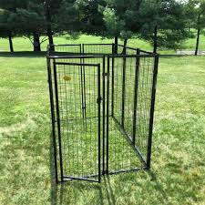 Kennelmaster 6 Ft X 4 Ft X 6 Ft Welded Wire Dog Fence Kennel Kit Dk646wc The Home Depot