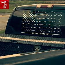 Pledge Allegiance Rear Window Decal From Nineline Apparel Rear Window Decals Vinyl Decals Truck Stickers