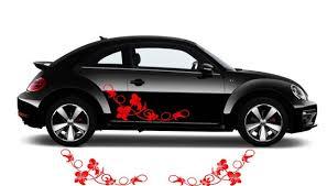 Floral Flower Swirl Car Decal Sticker Flower Car Decal 001 Etsy