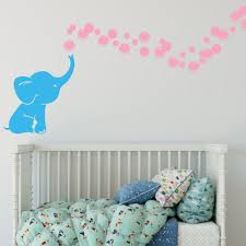 Elephant Bubbles Multi Colored Vinyl Wall Decal Decal The Walls