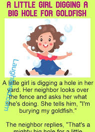 A Little Girl Digging A Big Hole For Goldfish Funny Story 1 Laughtered