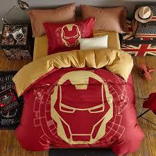 super hero iron man bedding twin queen