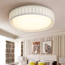 hollow design drum shade living room