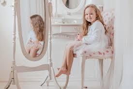 closeup portrait of the little girl