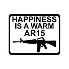 Happiness Ar 15 Assault Rifle Vinyl Sticker